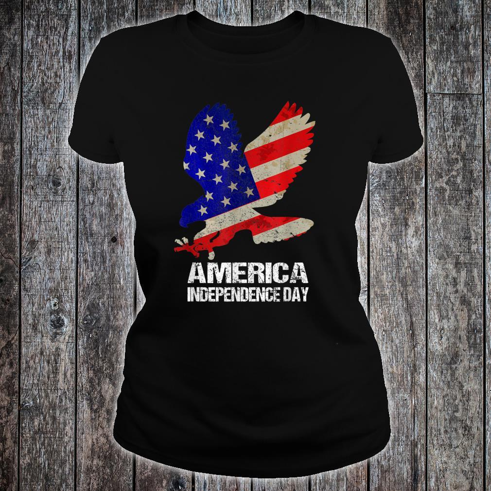 America Independence Day Shirt Bald Eagle 4th of July USA Shirt ladies tee