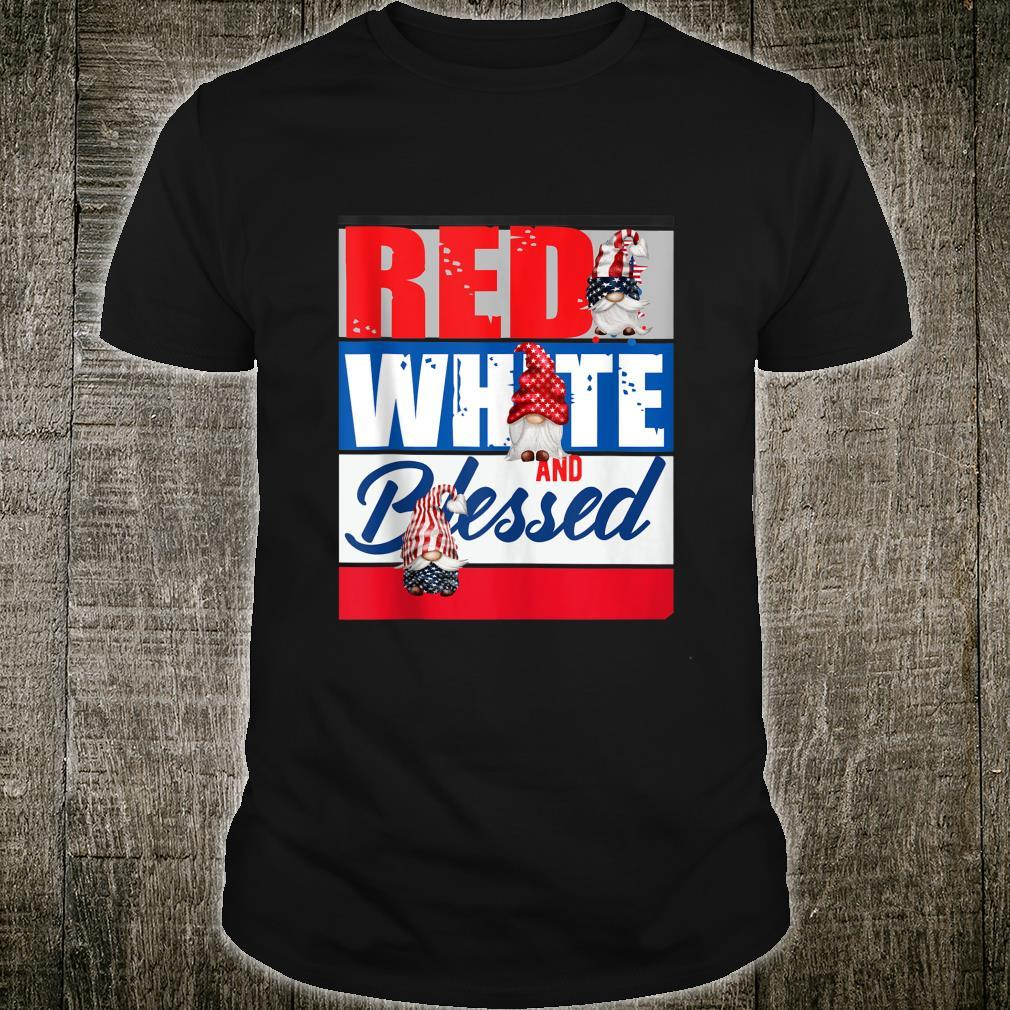 Gnome Patriotic American 4th of July Independence Day Shirt