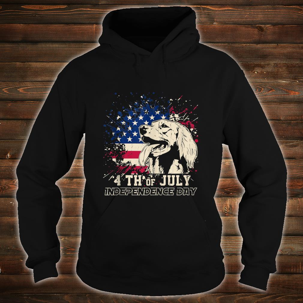Irish Setter Dog 4th of July Independence Day Shirt hoodie