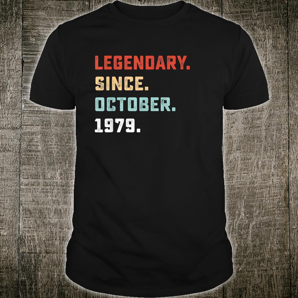 Legendary Since October 1979 Birthday For 40 Yrs Old D1 Shirt
