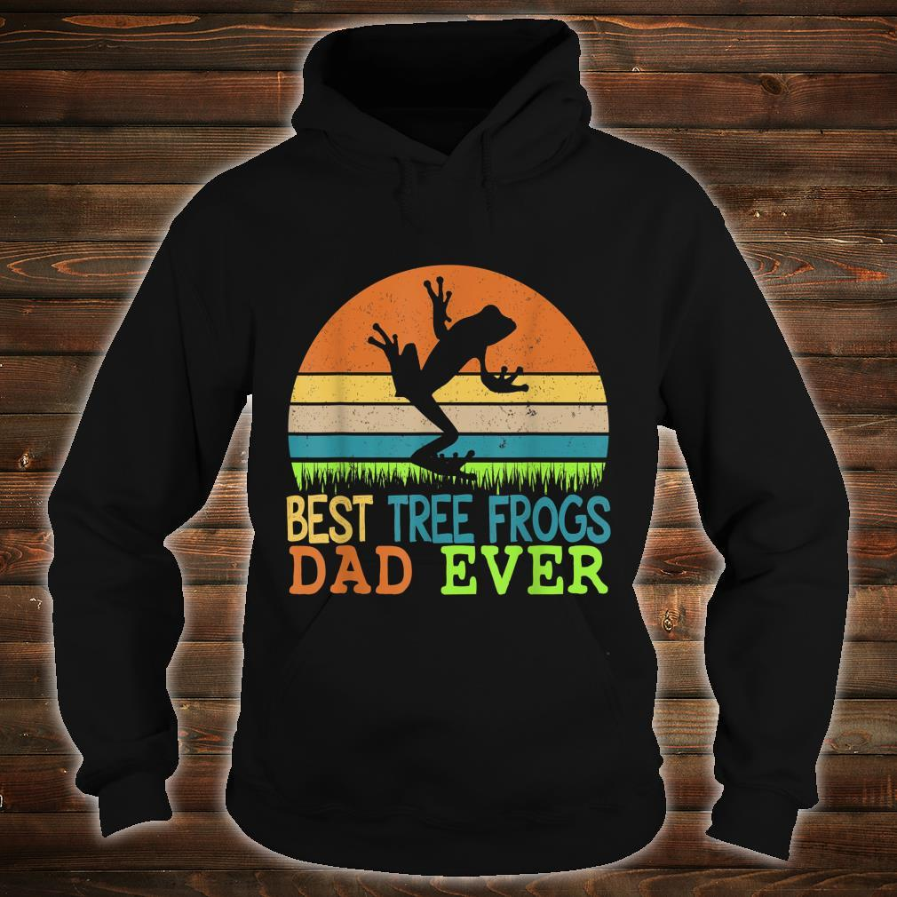Mens Best Tree Frogs Dad Ever Vintage Shirt For Father Day Shirt hoodie