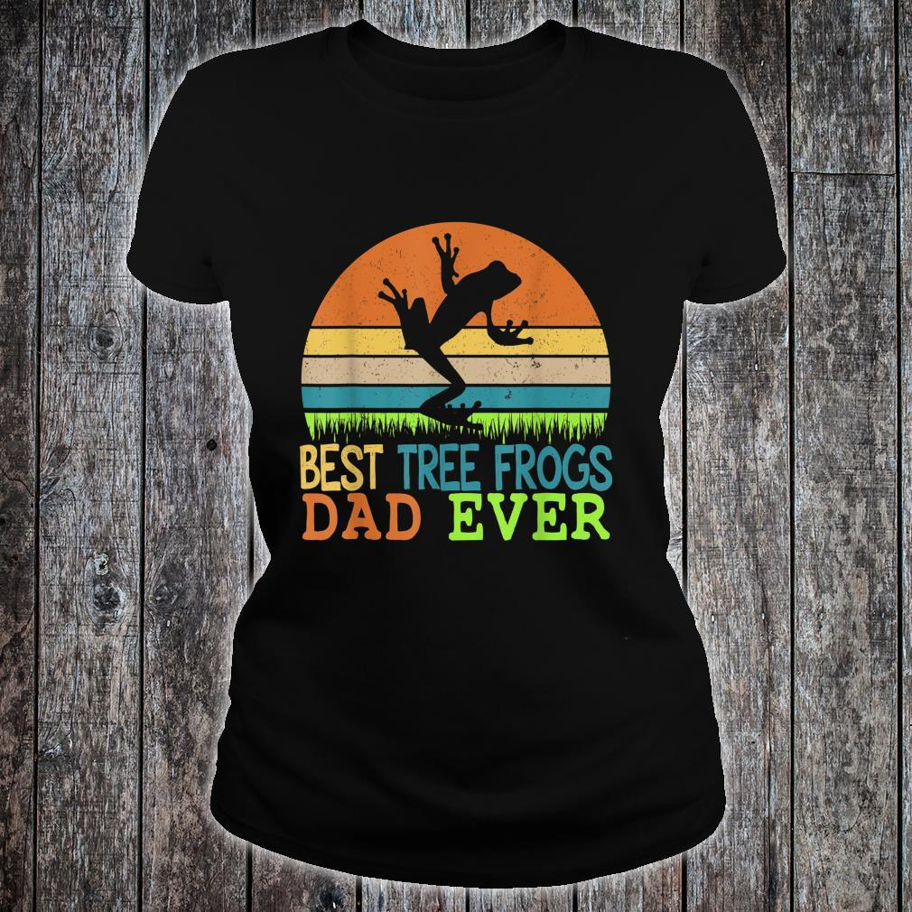 Mens Best Tree Frogs Dad Ever Vintage Shirt For Father Day Shirt ladies tee