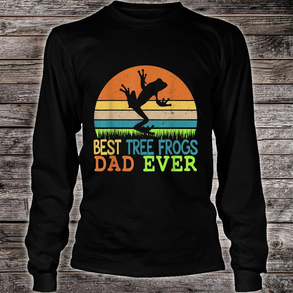 Mens Best Tree Frogs Dad Ever Vintage Shirt For Father Day Shirt long sleeved