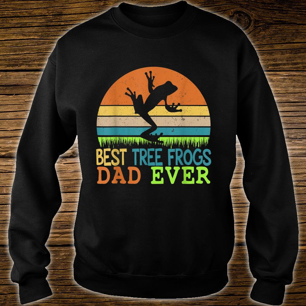 Mens Best Tree Frogs Dad Ever Vintage Shirt For Father Day Shirt sweater