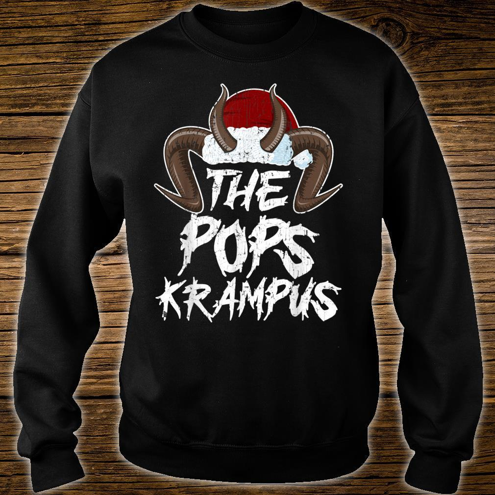 Mens Father Krampus I Family Christmas PJs Matching Sets I Pops Shirt sweater