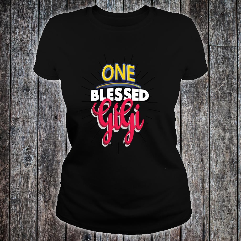 Mother's Day Blessed Gigi Lovely Inspiration Shirt ladies tee