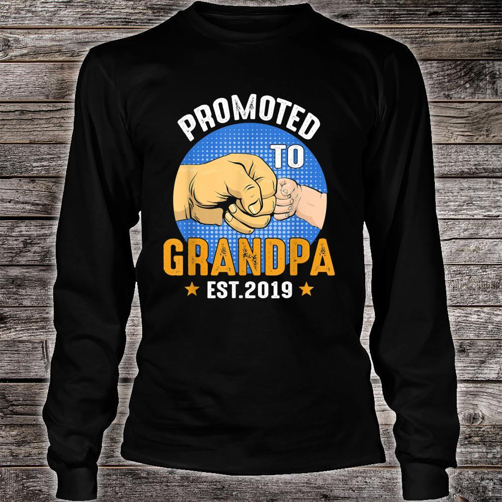 Promoted To Grandpa Est 2019 Shirt Father Day Shirt long sleeved
