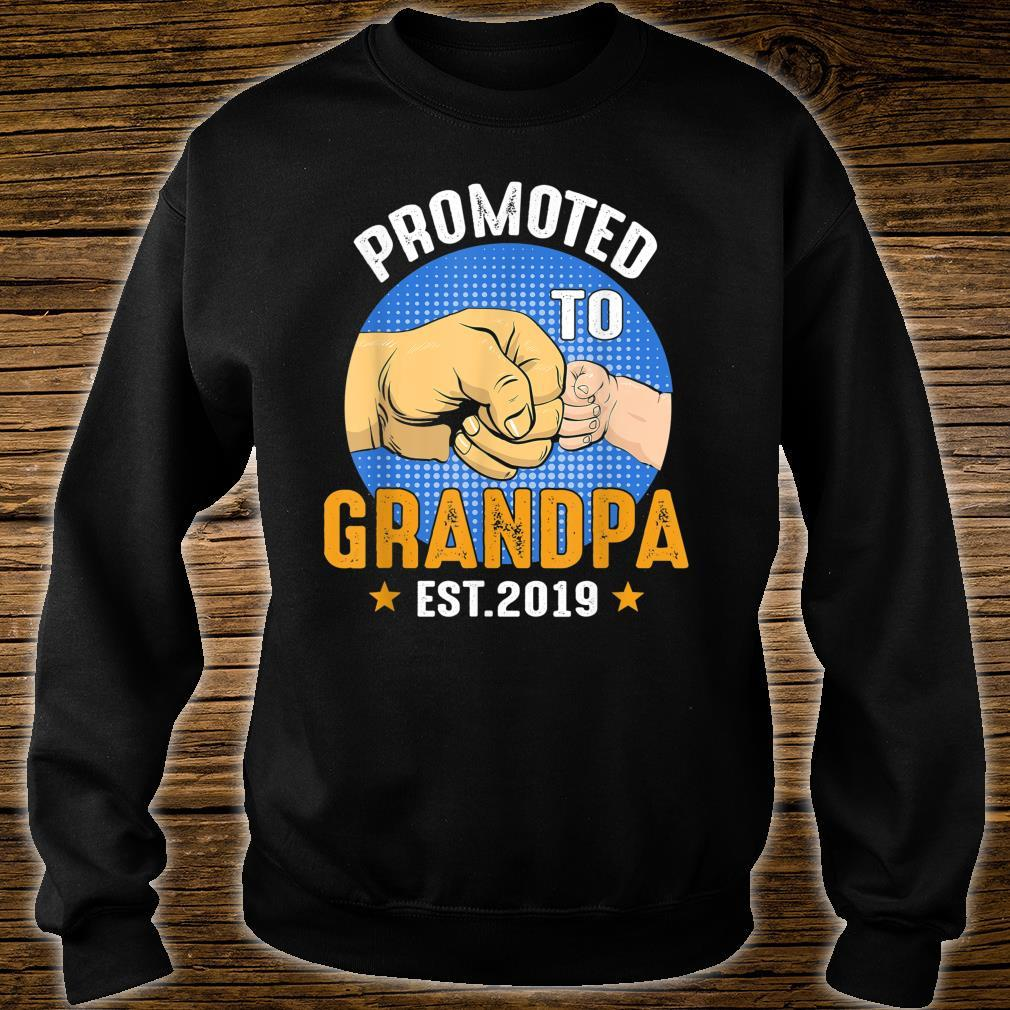 Promoted To Grandpa Est 2019 Shirt Father Day Shirt sweater