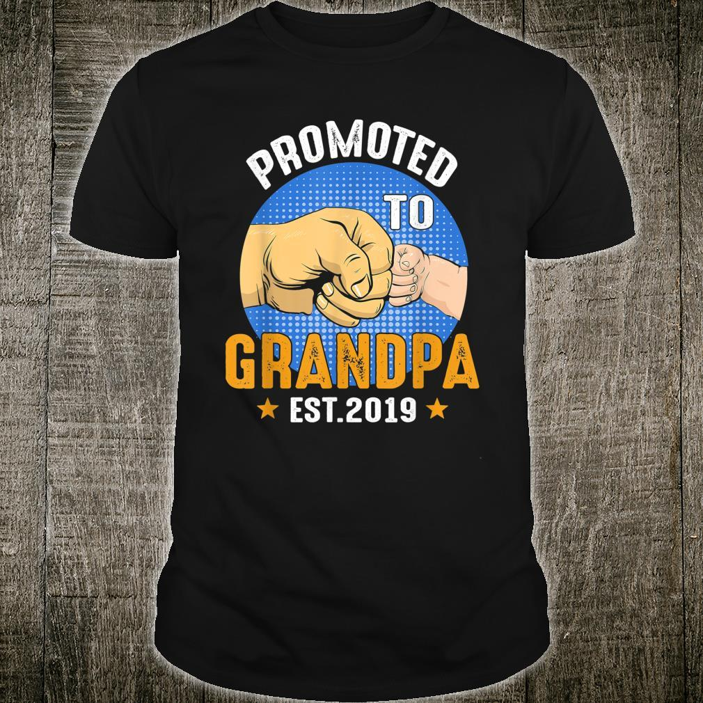 Promoted To Grandpa Est 2019 Shirt Father Day Shirt