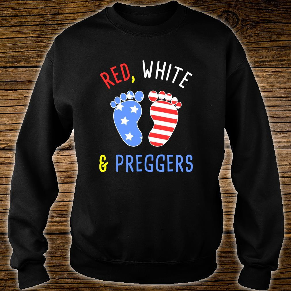 RED WHITE PREGGERS 4th July Independence Day Pregnant Shirt sweater